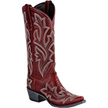 Lane Ladies Satatoga Red cowgirl boot LB0389C