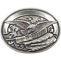 Nocona Men's Bald Eagle And American Flag Buckle