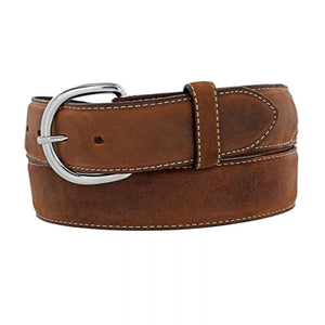 JUSTIN MEN'S BROWN CLASSIC WESTERN BELT 53709