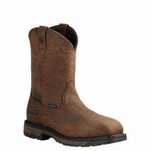 Ariat® Men's Workhog Square Composite Toe H2O Brown Work Boot 10020092