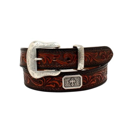 Nocona Western Belt Mens Prescott Concho Cross Rectangle N2300067