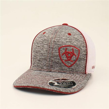 Ariat 1504909 Mens Embroidered Shield Cap - Grey