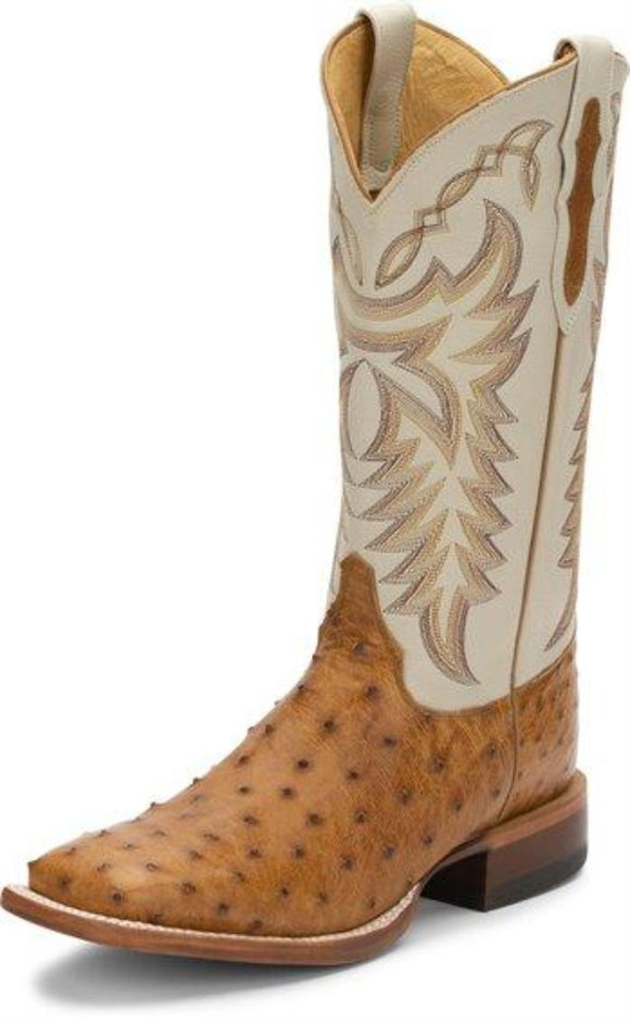 JUSTIN PASCOE ANTIQUE SADDLE MADDOG FQ OSTRICH BOOT