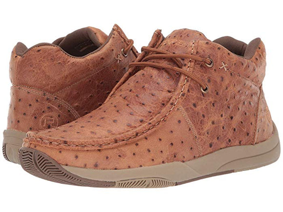 Roper Men's Ostrich Print Lace Shoe