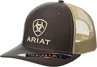 Ariat Brown and Khaki Embroidered Logo Snap Back Cap