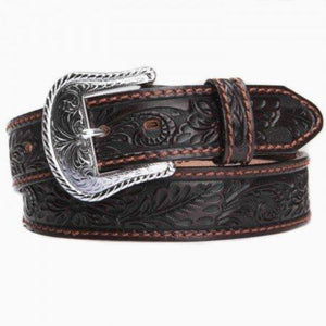 Tony Lama Mens Floral Tooled Western Belt C40068