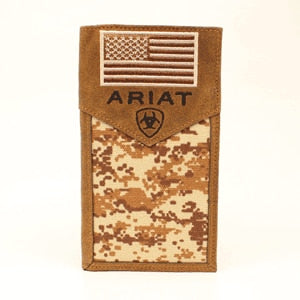 Ariat Digital Camo Patriot Rodeo Wallet A3536444