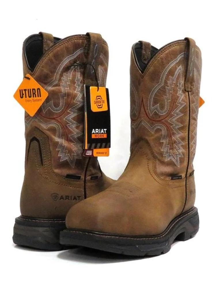 Ariat Mens Workhog Waterproof H2O XT Carbon Toe Work Boots