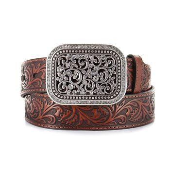 Ariat Women's Tooled Leather Belt