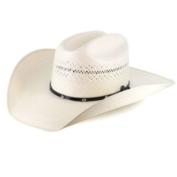 Ariat Men's 20X Cattleman Crease Double S Straw Cowboy Hat