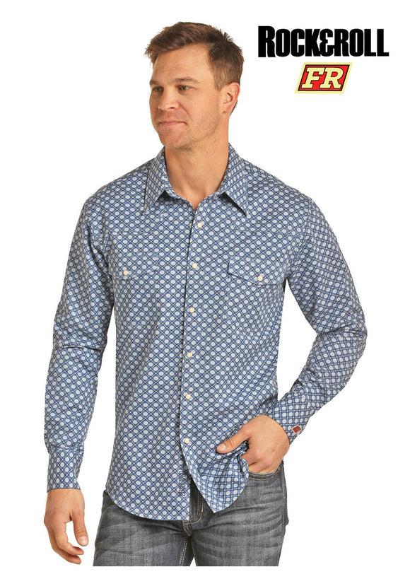 Men's Rock & Roll Cowboy Fire Resistant Snap Front Shirt