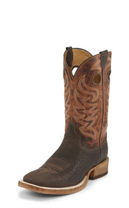 JUSTIN CADDO BROWN STONE BOOT