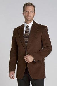 Circle S Men's Microsuede Sport Coat Dark Brown CC4625-27