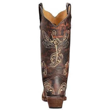 Circle G Women's Dragonfly Embroidered Western Boots