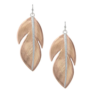 Montana Silversmith Sunlit Floating Feather Earrings