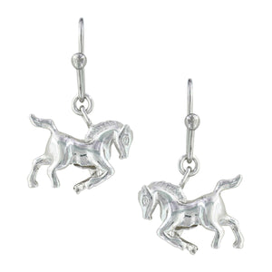 Montana Silversmiths Prancing Horse Earrings