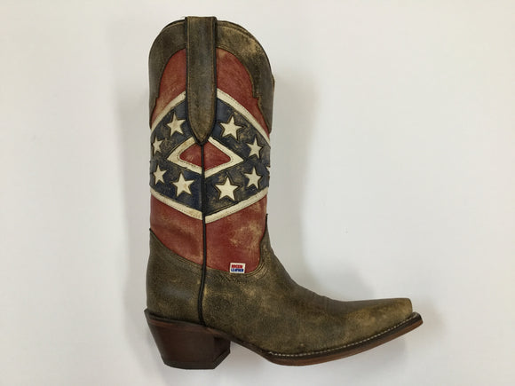Ladies Rockin Leather Confederate Boot