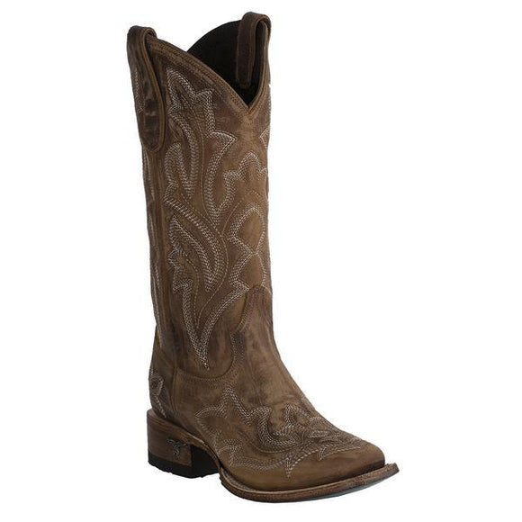 Lane Women's Saratoga Square Cowboy Boot - Tan