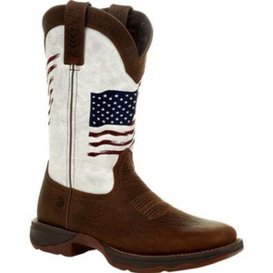 Durango Women's Distressed Flag Embroidery Western Boot
