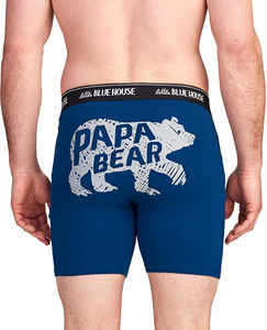 Papa Bear Navy Men's Boxer Briefs