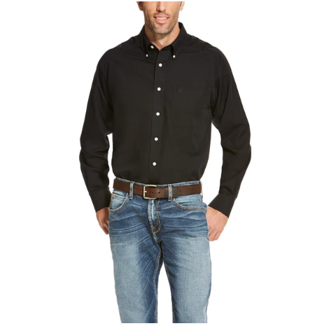 Ariat Men's Black Wrinkle Free Button Up Shirt