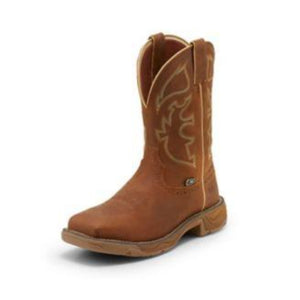Justin Men's Stampede Rustic Tan Waterproof Steel Toe Work Boot WK4331