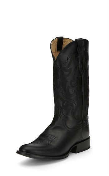 Tony Lama PATRON BLACK Men's Round Toe Boot