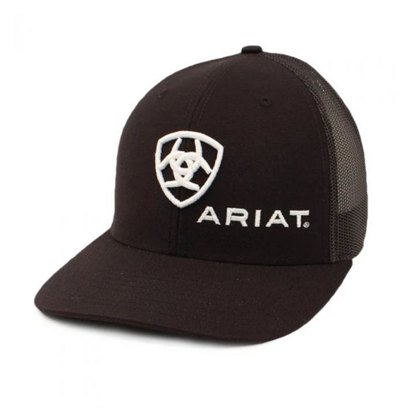Ariat Black with White Shield Logo Cap - A300003001