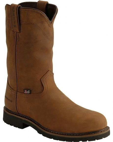 JUSTIN MEN'S WYOMING WORKER II™ WATERPROOF STEEL TOE WORK BOOTS