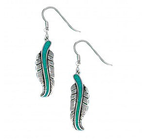 Montana Silversmith The Storyteller Feather Dangle Earrings