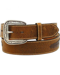 Ariat Men's Distressed Leather Lace Concho Belt