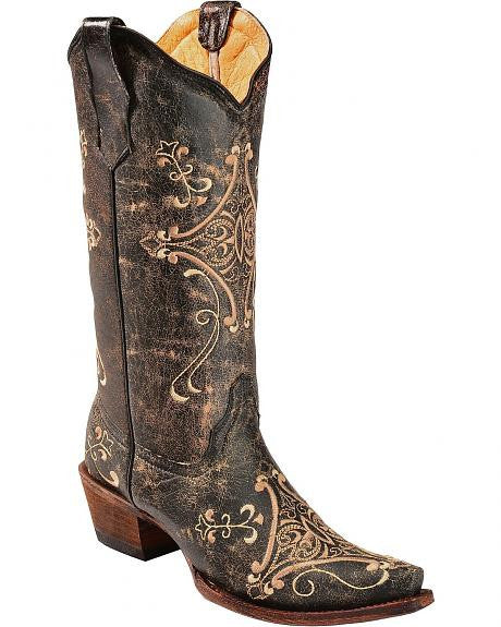 Corral Women's Scroll Embroidery Western Boots