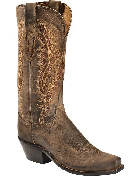 Lucchese Women's Chocolate Madras Goat Boots