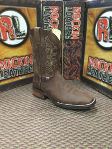 RockinLeather Men's Crazy Flotter Square Toe Western Boot 1122