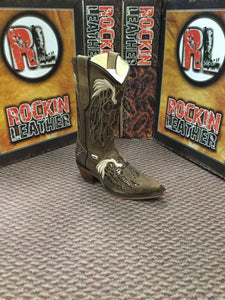 RockinLeather Womens Light Brown Snip Toe Western Boot 2138