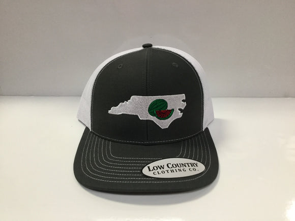 Low Country Watermelon Charcoal Grey/White Hat