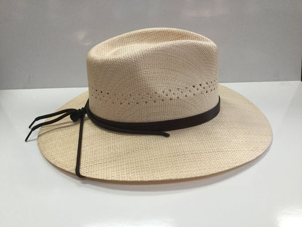 5d1bb49a0a796 Stetson outfitter straw hat - Natural Tan – Tracie s Boots and Buckles