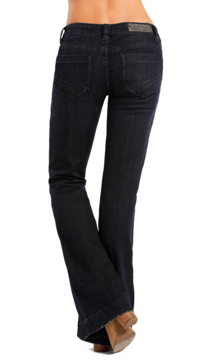 Rock and Roll Cowgirl Ladies Trouser - Dark Wash