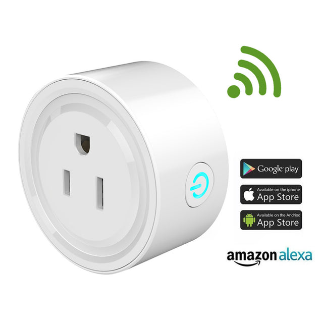 WiFi Smart Plug Outlet Compatible with Amazon Alexa & Google Home