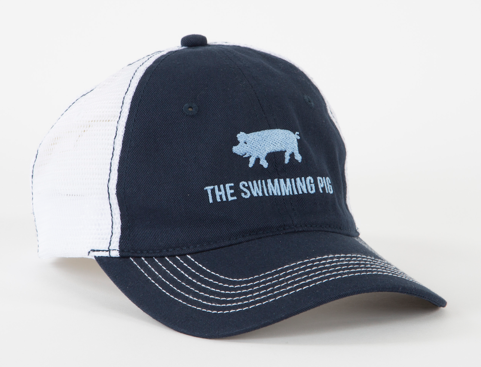 The Swimming Pig® Trucker Hat Navy