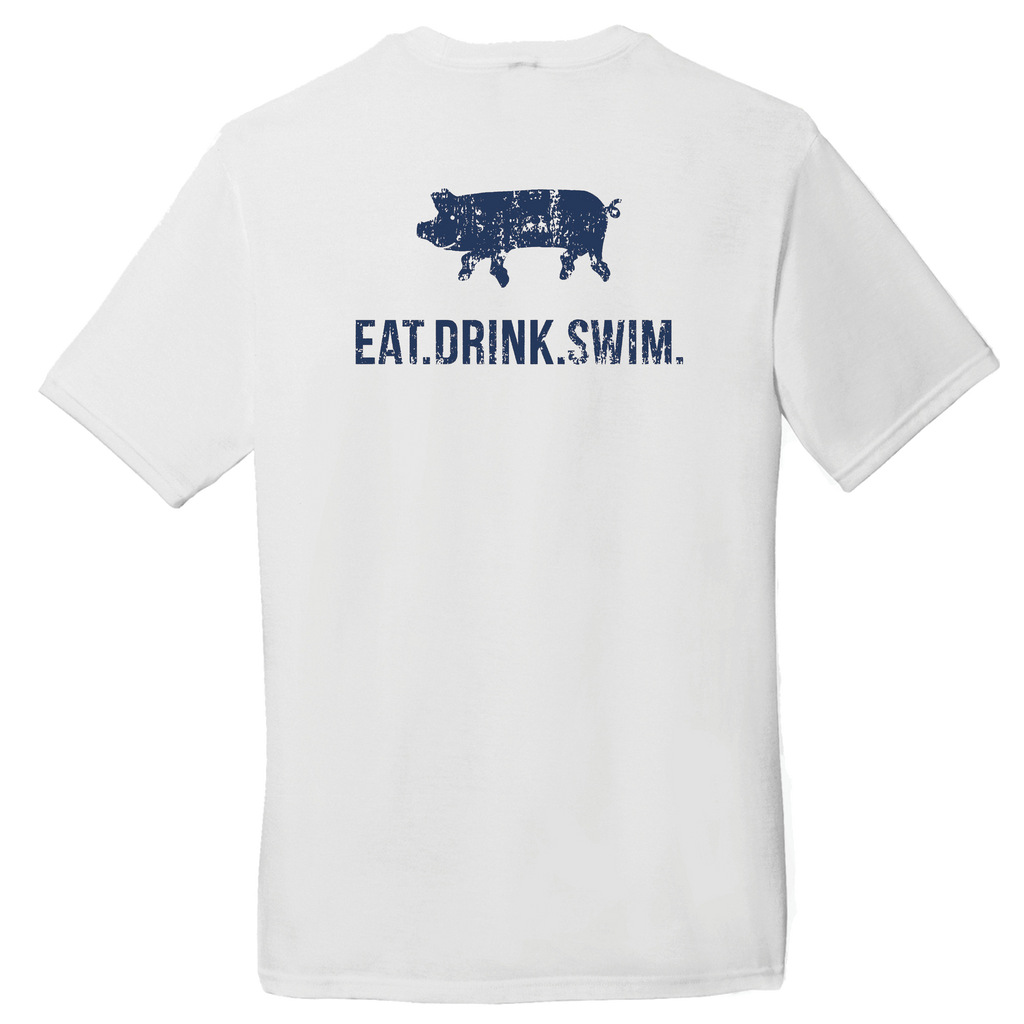 EAT.DRINK.SWIM. Tee: Men's White