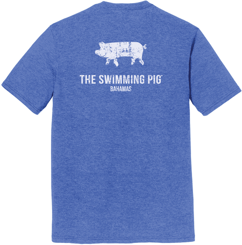 The Swimming Pig® Tee: Men's Royal Frost