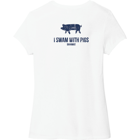 I SWAM WITH PIGS (BAHAMAS) Women's Tee