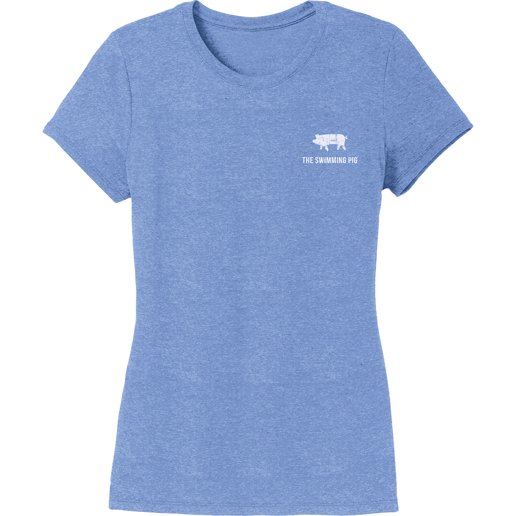 EAT.DRINK.SWIM. Tee: Women's Blue
