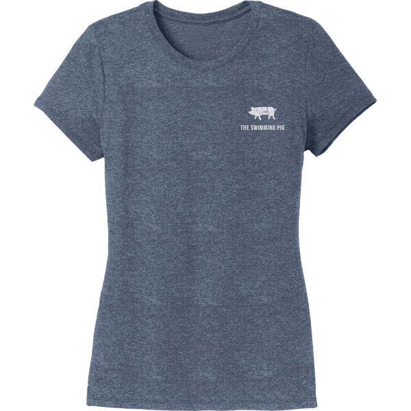 EAT.DRINK.SWIM. Tee: Women's Navy Frost
