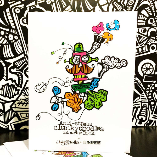 Grown-up Colouring Book from Clunkydoodles