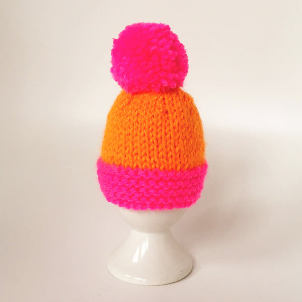 Knitted Egg Cosy with Pom Pom