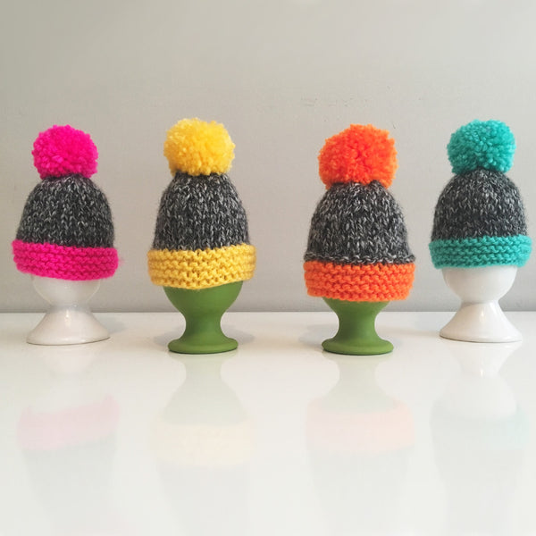 Knitted Egg Cosy – New Colours