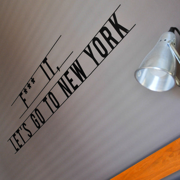 Let's go to New York decal