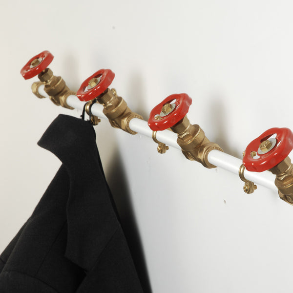 Pipework Coat Rack - White